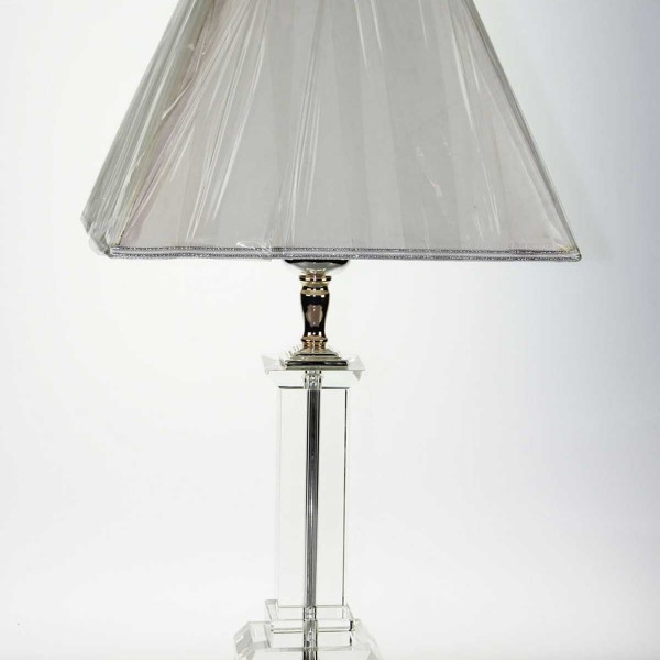 Crystal Lamp Square Base Excel Lighting, Crystal Square Base Table Lamp